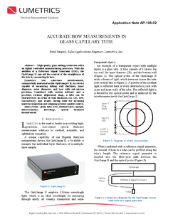 AP-109-02 Accurate Bow Measurements in Glass Capillary Tube First Page