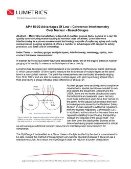 AP-115-02 Advantages Of Low – Coherence Interferometry Over Nuclear-based Gauges_Page_1