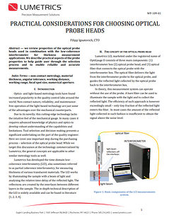 practical considerations for selecting optical probe heads paper front page screenshot